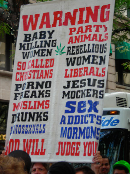 Anti-gay protest sign
