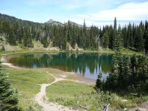 Mystic Lake, Mt. Rainier Nat'l Park